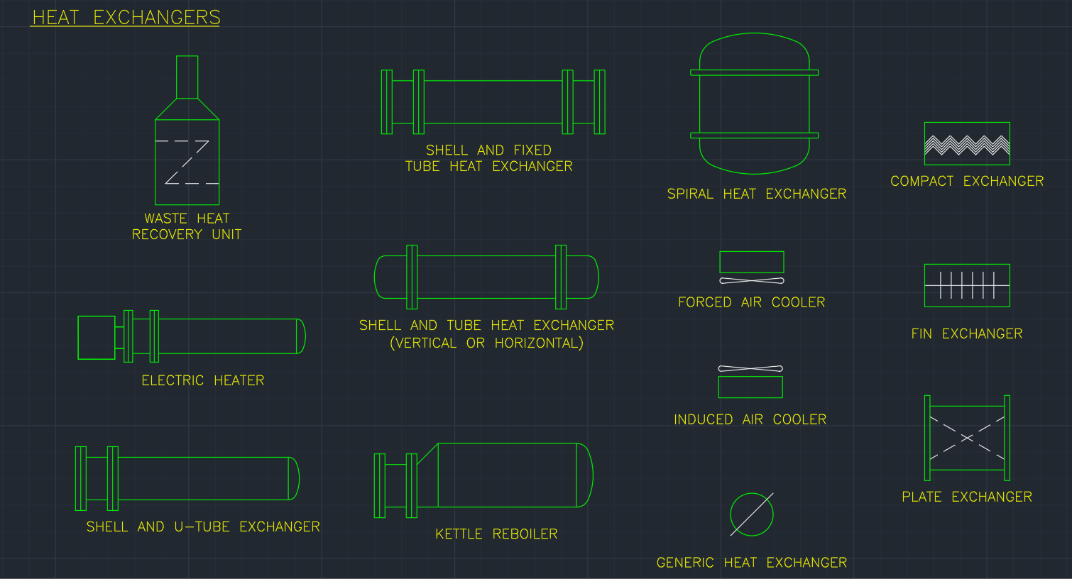 Heat Exchangers Cad Block And Typical Drawing For