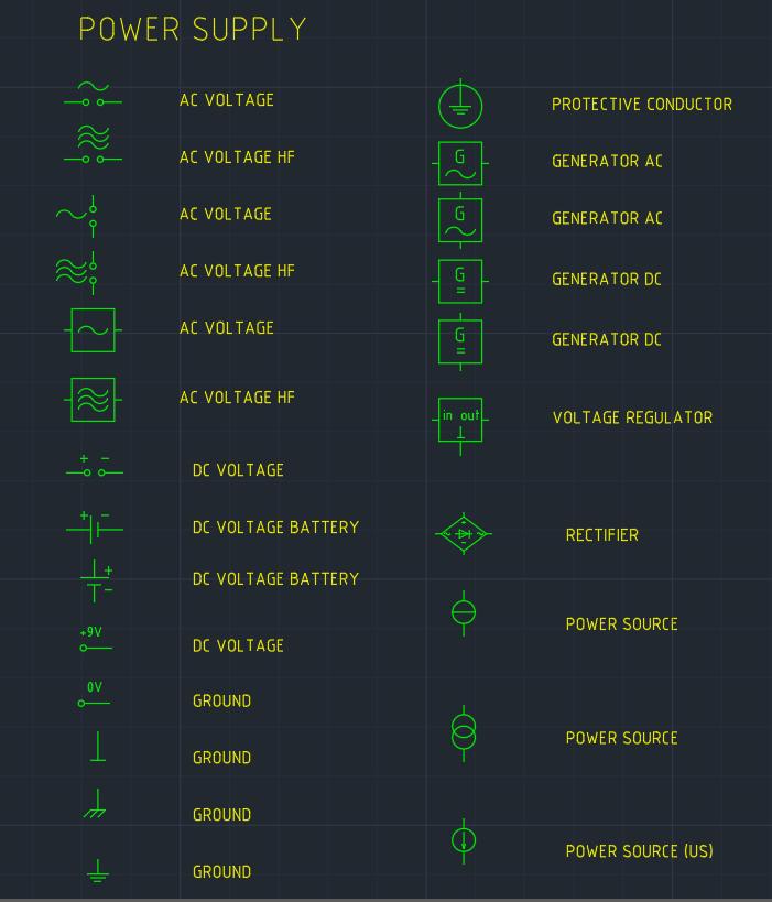 Power Supply Symbol Autocad Free Cad Block Symbol And Cad Drawing