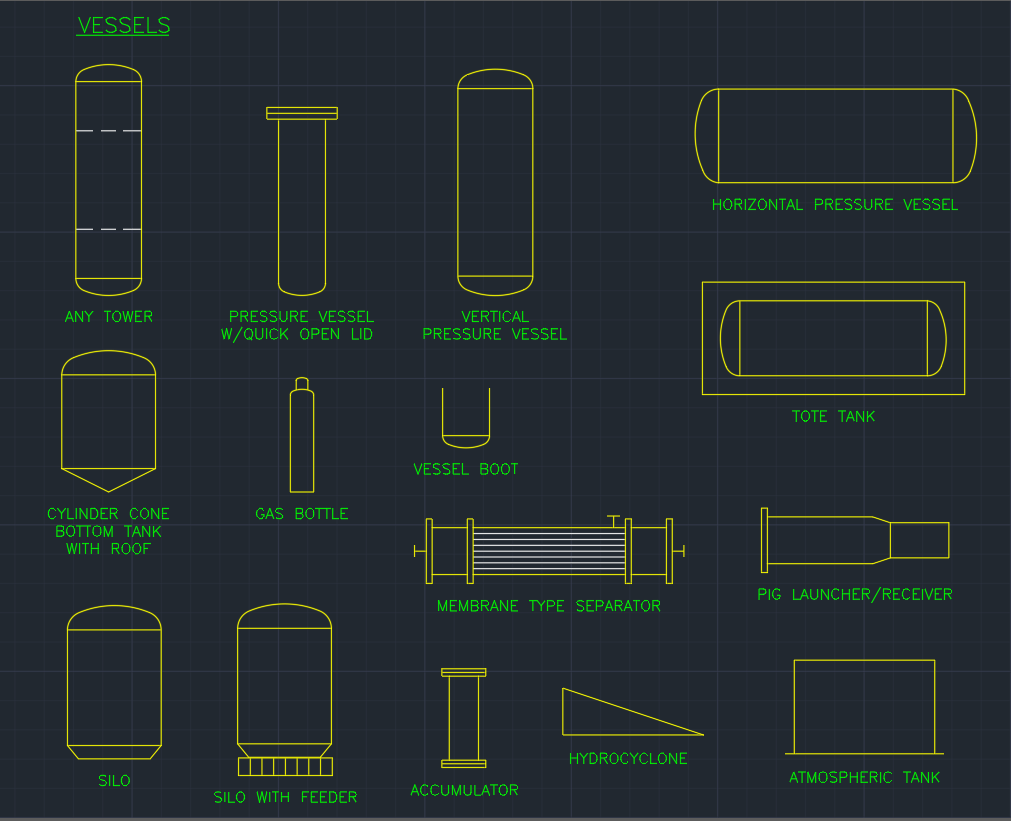 Vessels Free Cad Block Symbols And Cad Drawing