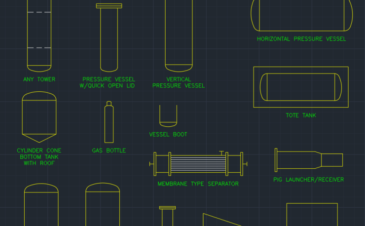 Process Equipment Symbols Free Cad Block Symbols And