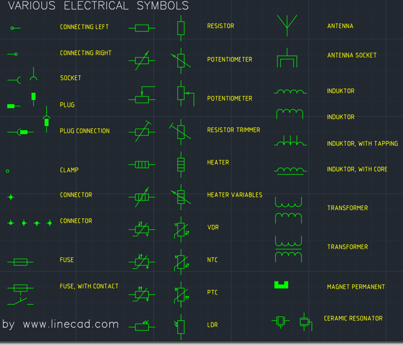 cad electrical symbols autocad free cad block symbol and cad drawing rh linecad com electrical wiring diagram symbols autocad Wiring Diagram Symbols