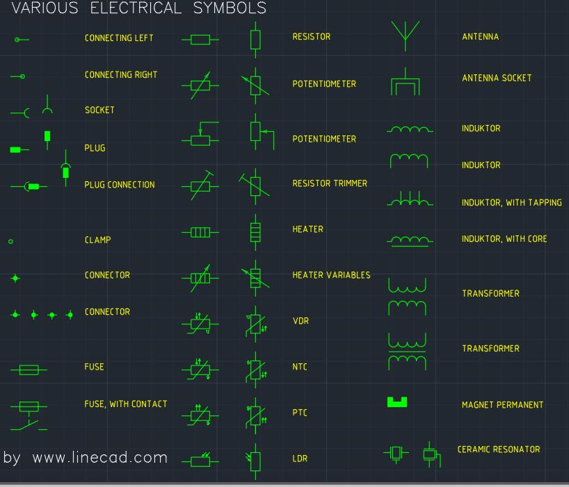 Cad Electrical Symbols Free Cad Blocks And Cad Drawing