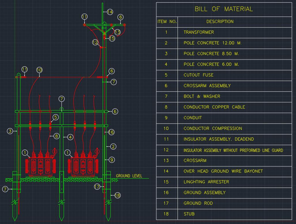 Transformer Installation | | AutoCAD Free CAD Block Symbol And CAD ...