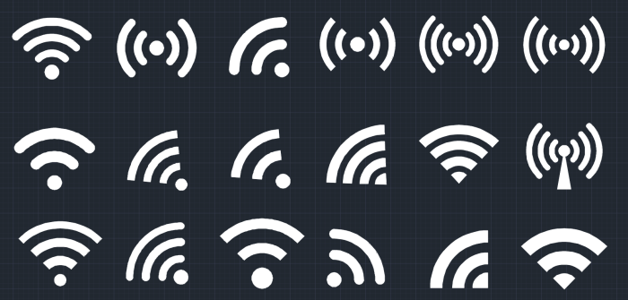 Wifi Symbol Autocad Free Cad Block Symbol And Cad Drawing