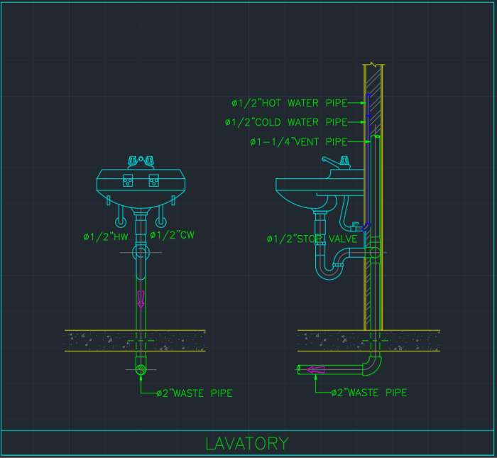 Lavatory Cad Block And Typical Drawing For Designers