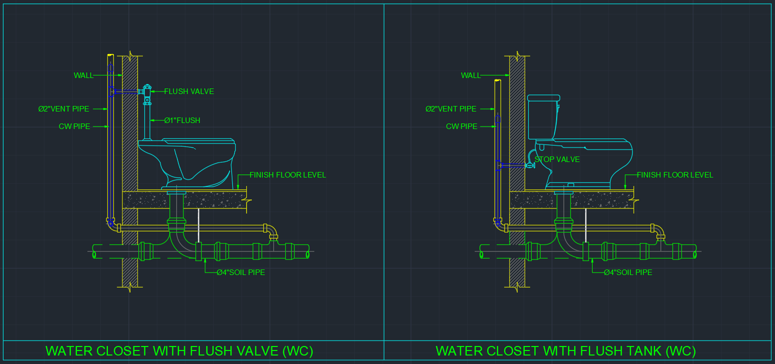 Water Closet Autocad Free Cad Block Symbol And Cad Drawing