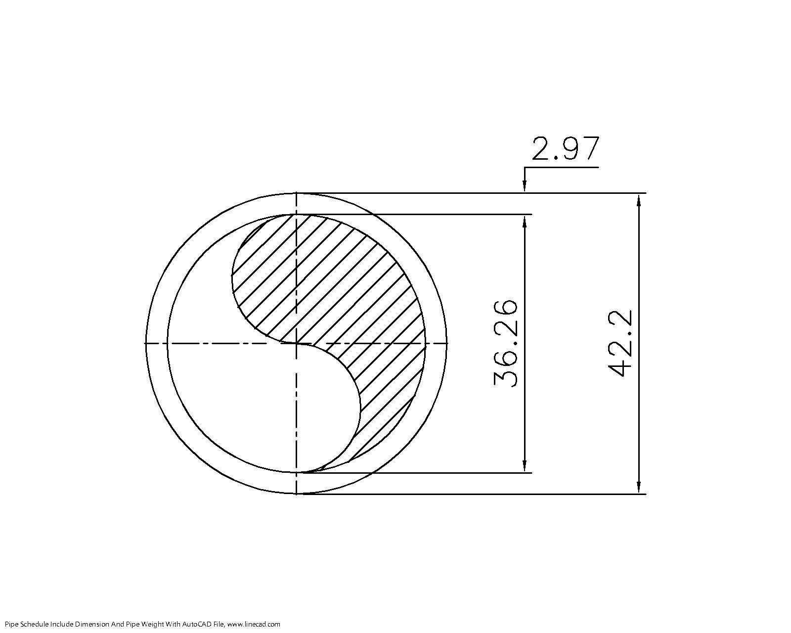 schedule 30 pipe 1 1-4 inch dn32 – autocad free cad block symbols