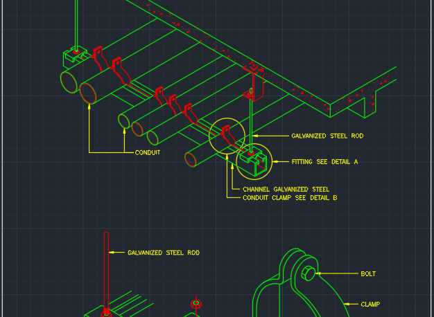 U Bolt Cad Block And Typical Drawing For Designers