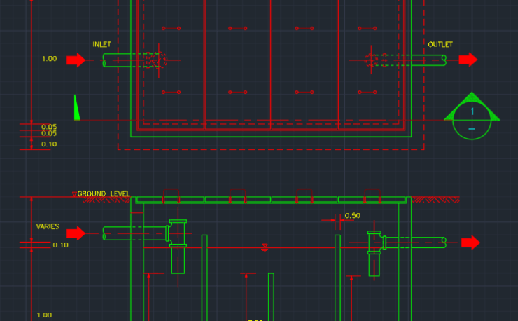 Linear Diffuser Cad Detail : Linear diffuser plenum free cad blocks and drawing