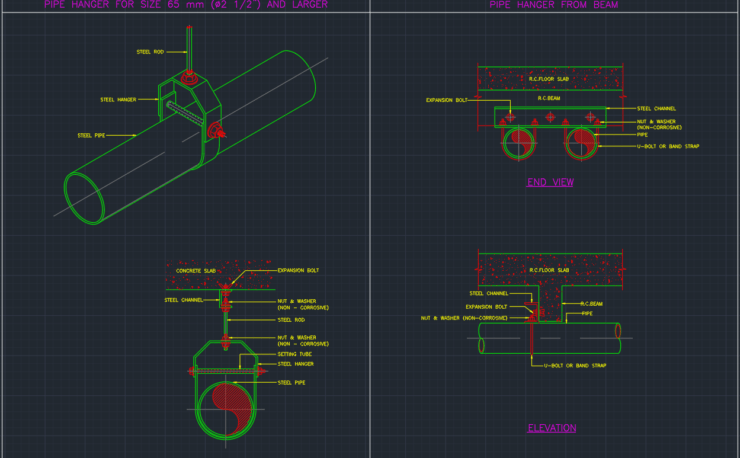 Pipe Hanger Free CAD Blocks And CAD Drawing