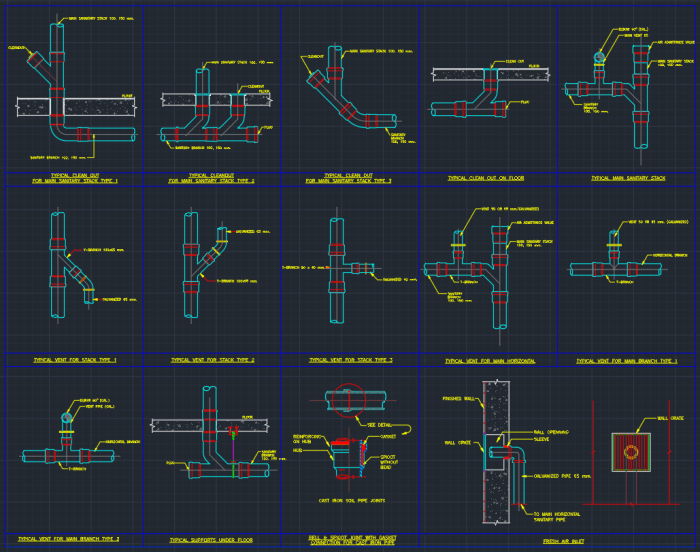 Plumbing Cleanout Free Cad Block Symbols And Cad Drawing