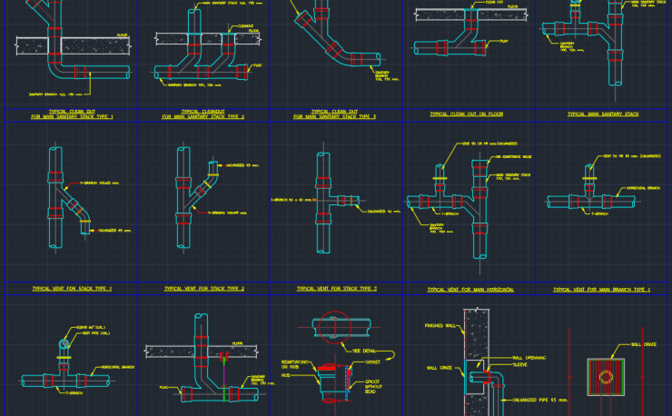 Plumbing Cleanout Free Cad Blocks And Cad Drawing