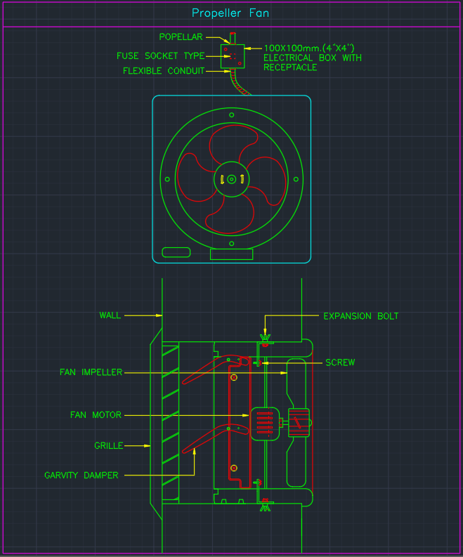 Propeller Fan Autocad Free Cad Block Symbols And Cad