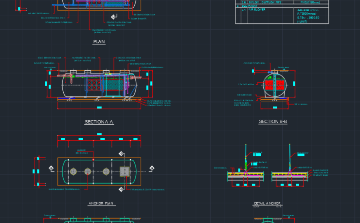 Grease Trap | | CAD Block And Typical Drawing For Designers