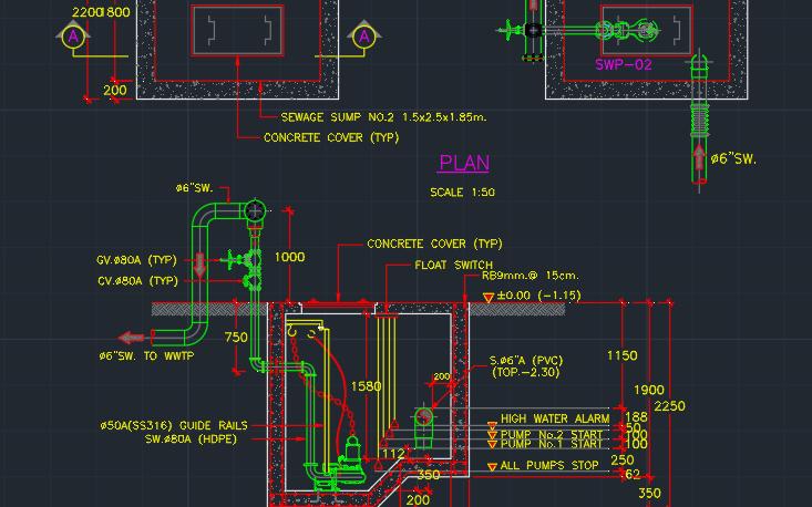 Sump Pump Installation Free Cad Block Symbols And Cad