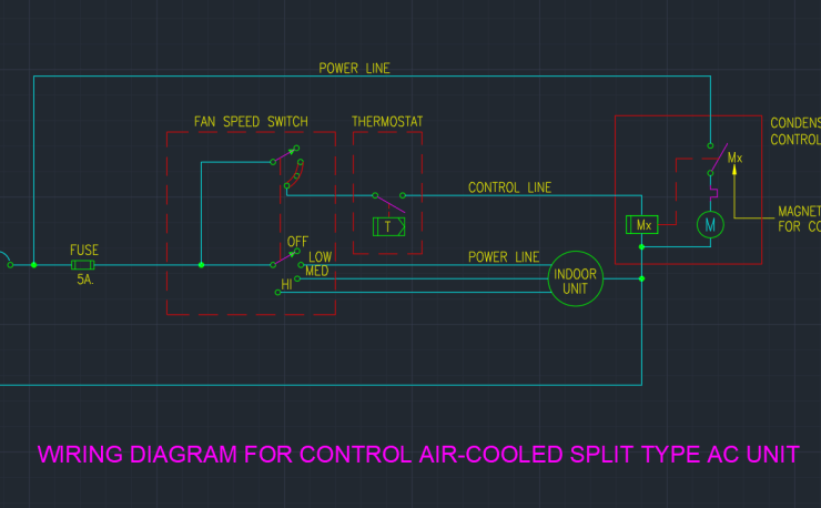 Ac Unit Cad Block And Typical Drawing For Designers