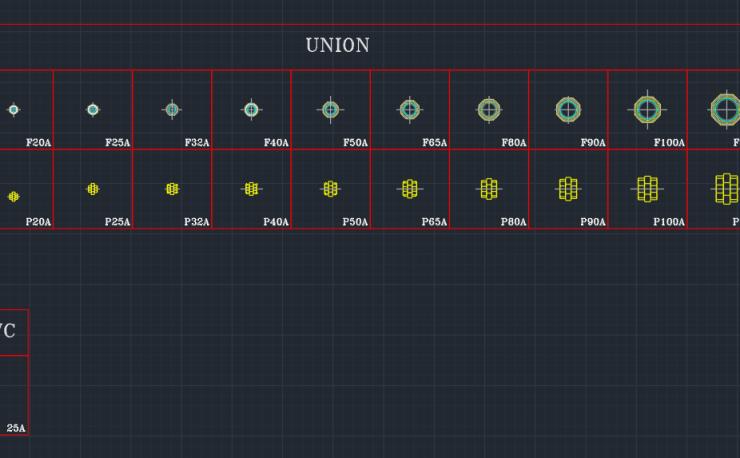 Pipe Fittings Symbols