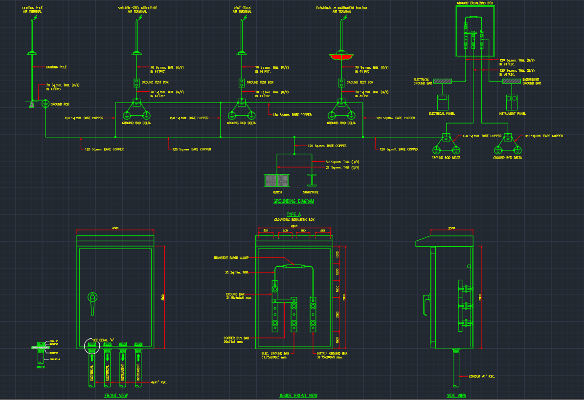 Ground Equalizing | | Free CAD Block Symbols And CAD Drawing