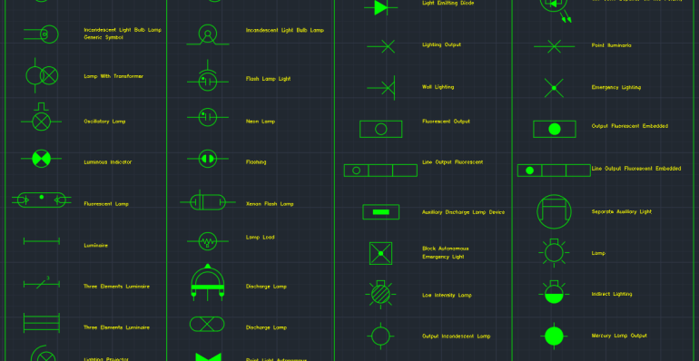 Electric Lighting Symbols Autocad Free Cad Block Symbols And Cad