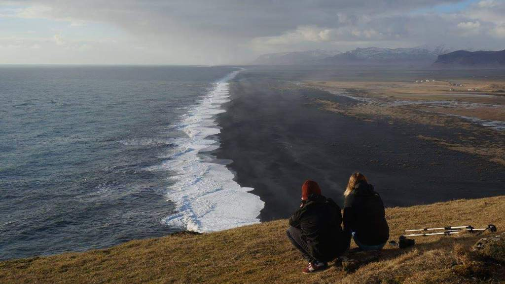 Zwarte strand in IJsland