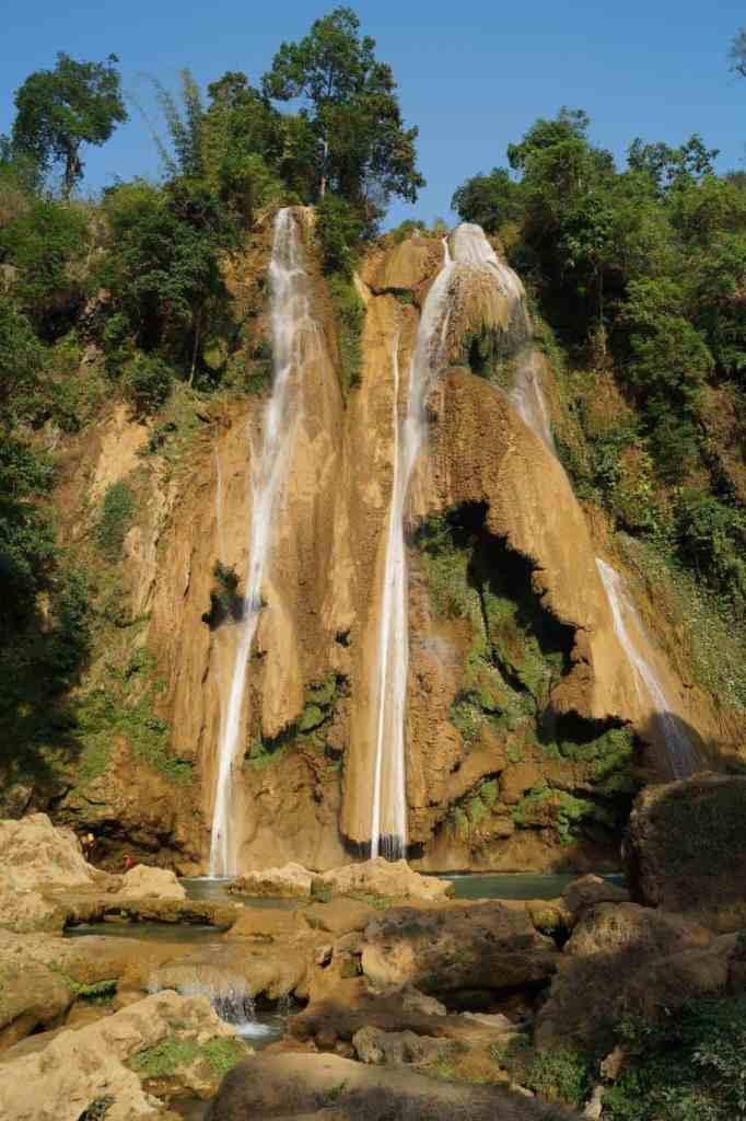 Anisakan Falls in Myanmar