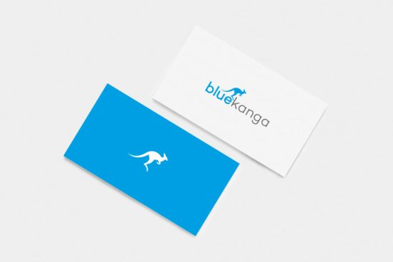 Blue Kanga business cards design