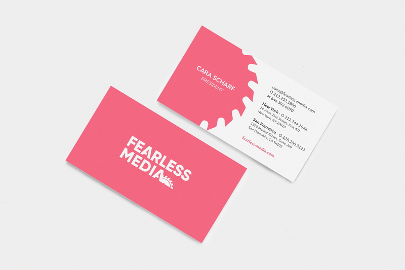 Fearless Media Business cards design