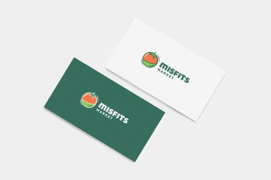 Business cards design for online grocery company