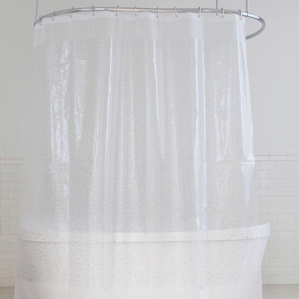 stars foil vinyl shower curtain