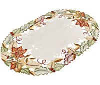 embroidered fall maple leaf placemats