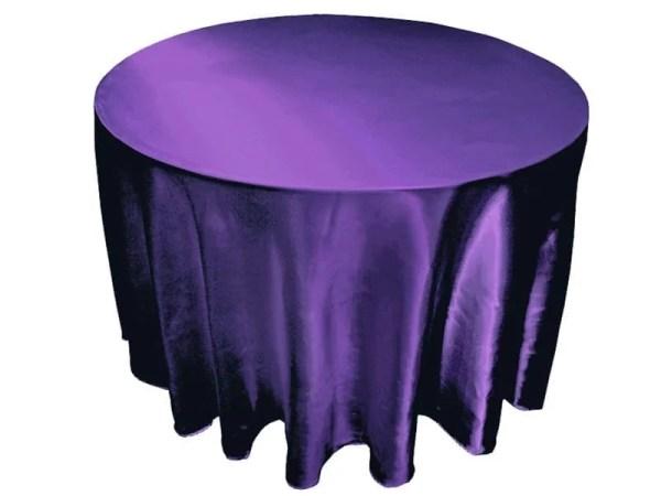 purple basic tablecloth