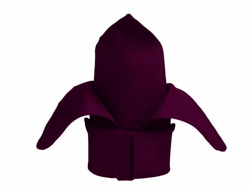 eggplant purple 20 x 20 polyester napkin