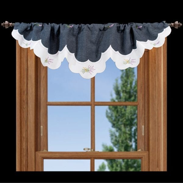 lavender floral window valance