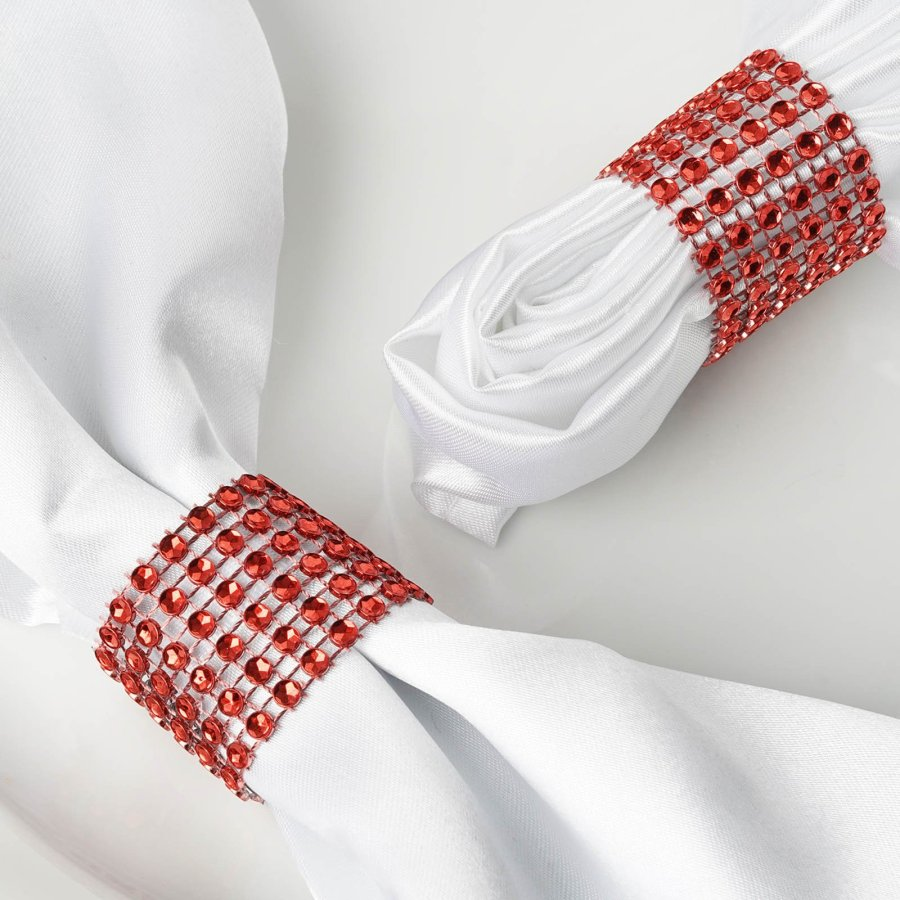 rhinestone bling napkin ring (set of 4)