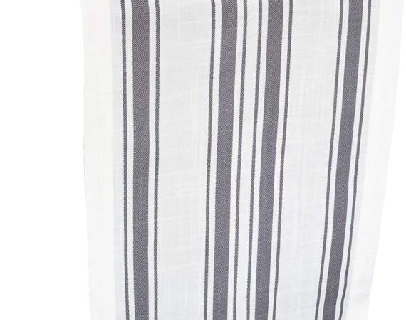 gray, blue or green and white stripe table runner