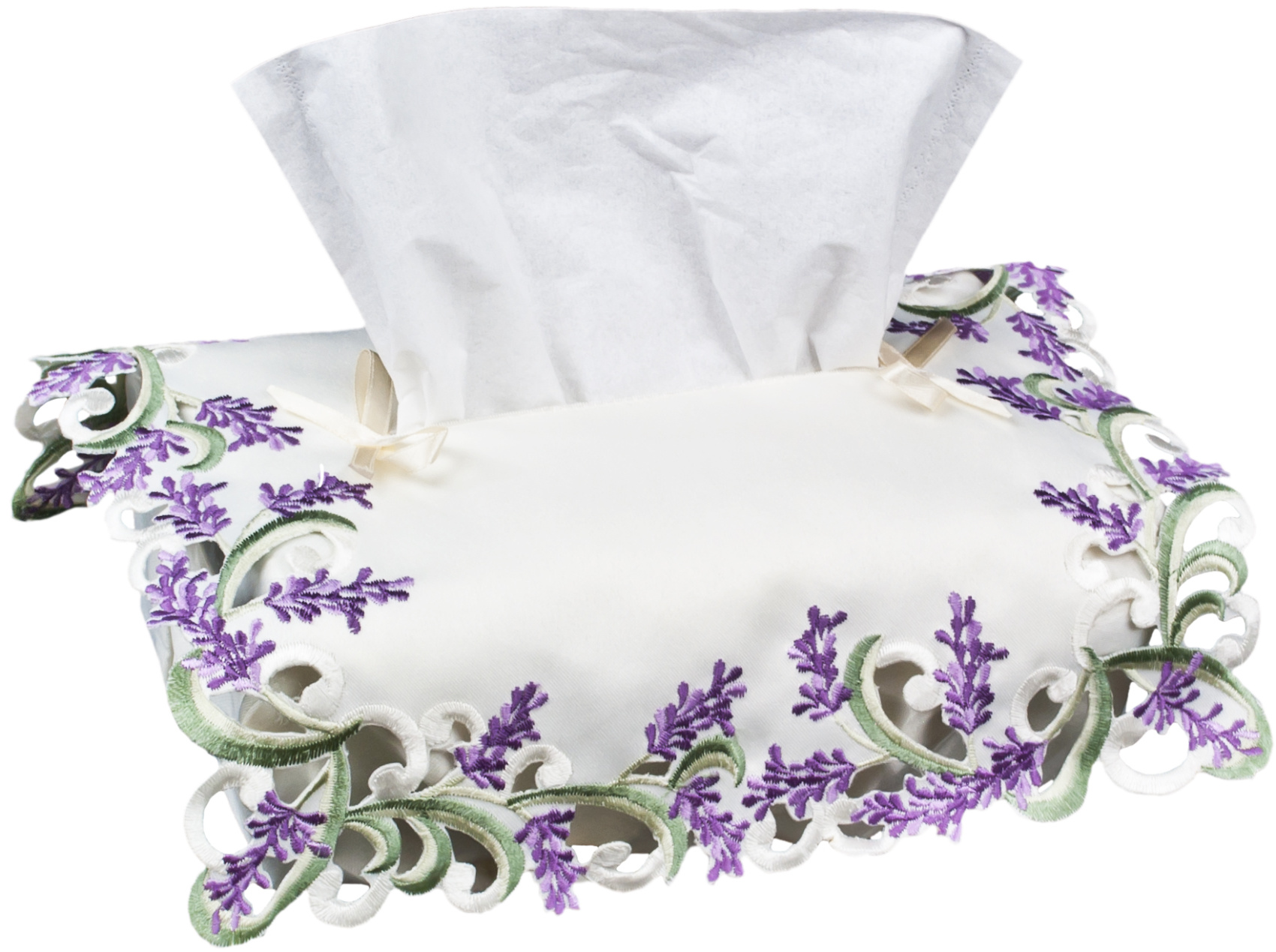 Includes Tissue Lilacs Designer fabric tissue box cover