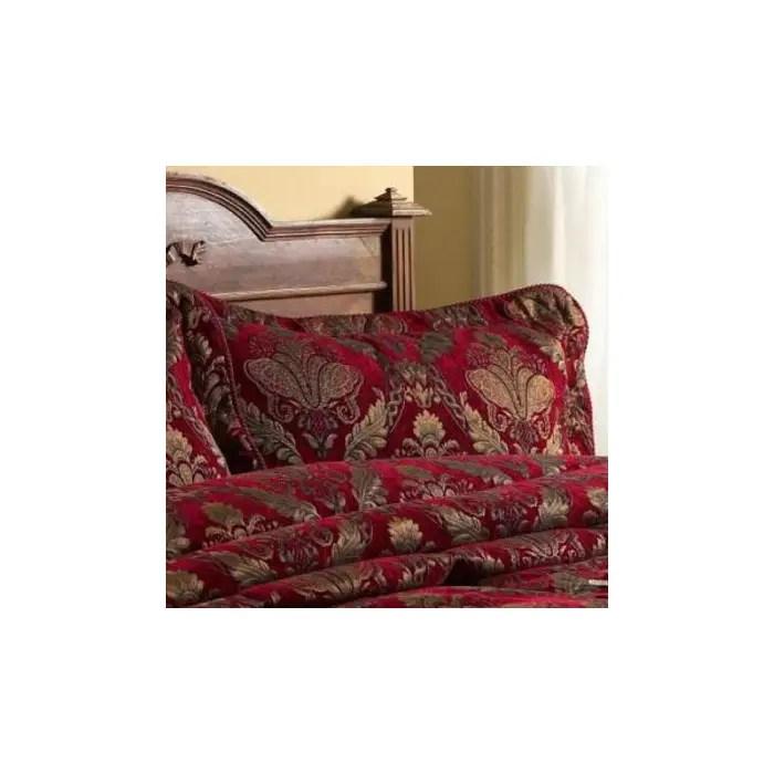 paoletti shiraz pillow sham burgundy 50 x 75 cm