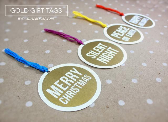 Gold Vinyl Christmas Gift Tags