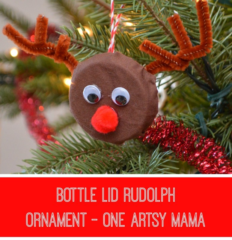 Bottle Lid Rudolph Ornament – One Artsy Mama