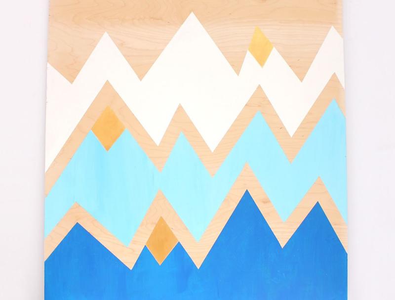 geometric mountains DIY wall art  sc 1 st  Lines Across & Geometric Mountains DIY Wall Art - Lines Across