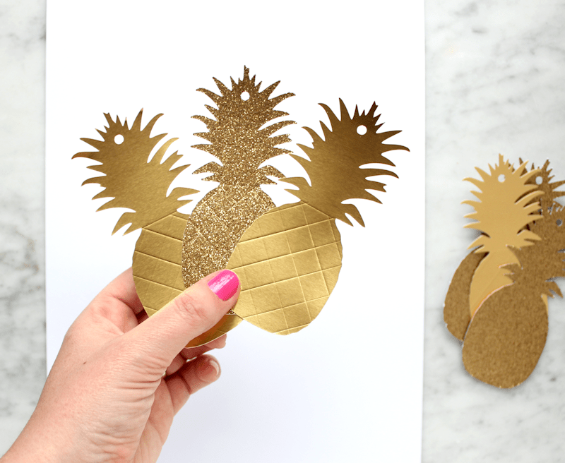 Gold Pineapple Gift Tags 2
