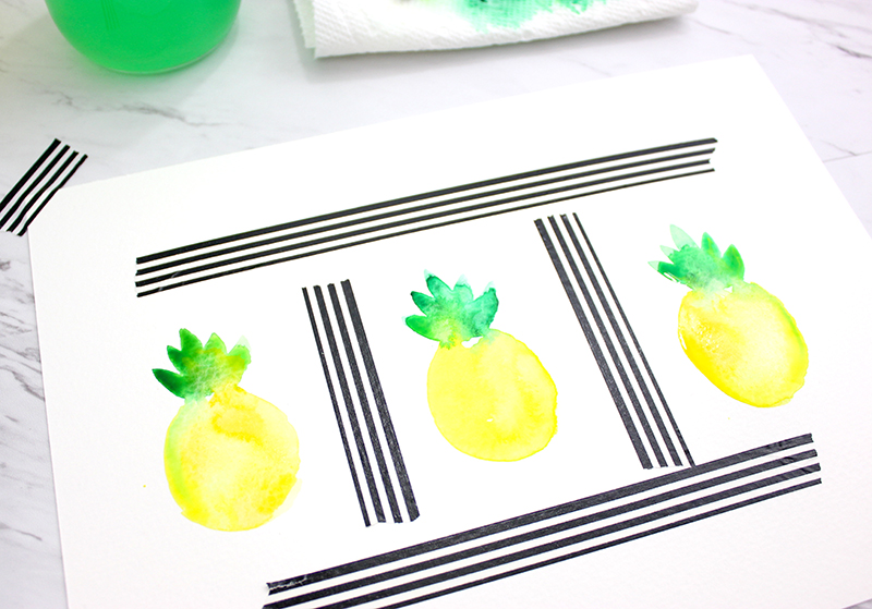 How to paint a pineapple @linesacross - watercolor tutorial