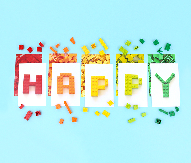Happy - lego birthday party banner