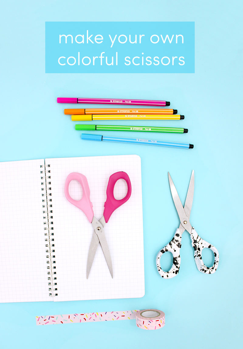 how to make your own colorful scissors @linesacross