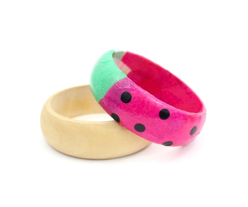 DIY watermelon bracelets