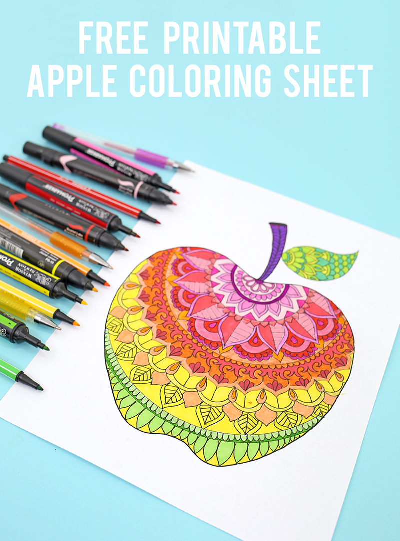 Apple Coloring Pages - Life is Sweeter By Design | 1082x800