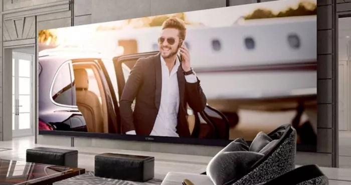tv au monde avec ecran de 262 pouces