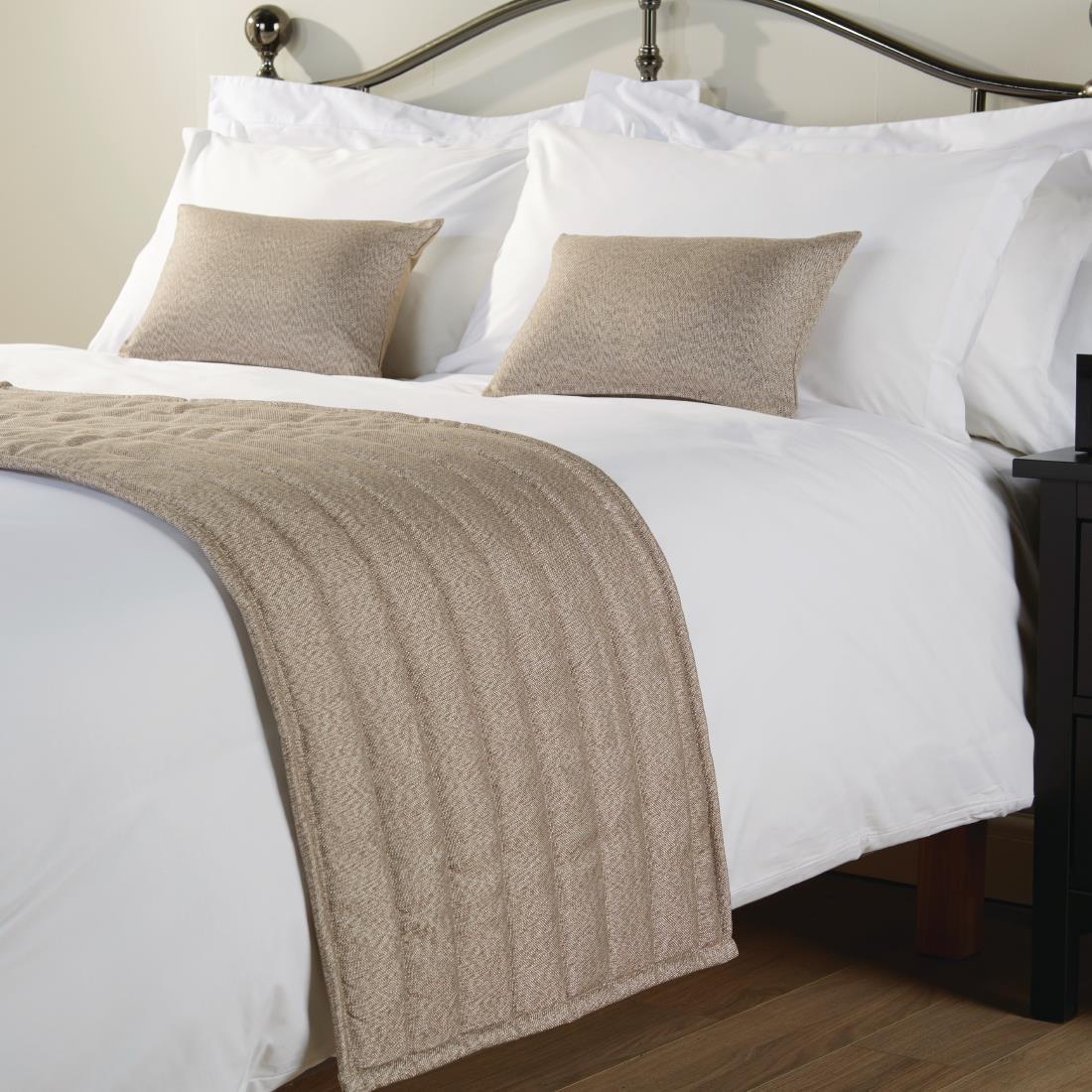comfort dune super king bed runner heather