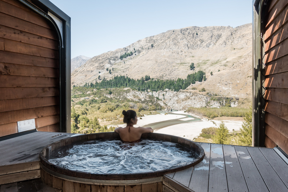 Relaxation at the Onsen Hot Pools, Queenstown, New Zealand