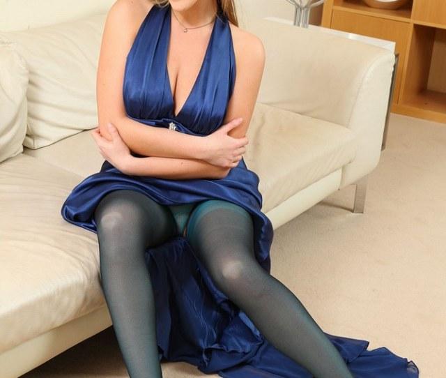 Sexy Uk Secretary Legs Nylons Over Nylons
